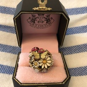 Juicy Couture Garden Party Cocktail Ring - Size 7